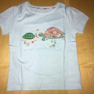 👧🏼 baby Boden Turtle Applique T-Shirr NWOT